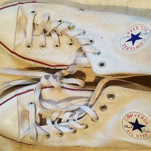Off white Converse all stars high tops sz 10